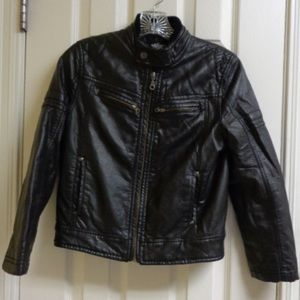 First Wave Faux Leather Biker Style Jacket